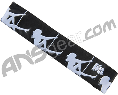 KM Paintball Headband - Grey Stripper