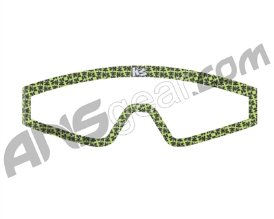 KM Paintball Mask Wraps - Spectra Lens - All Over Lime