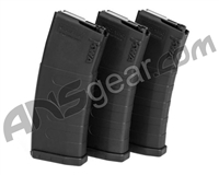 KWA K120C Adjustable ERG/AEG 2.5/AEG 3 Mid-Cap Magazines - Black (3-Pack)