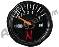 Ninja Tank Regulator Gauge - Black - 6000 PSI