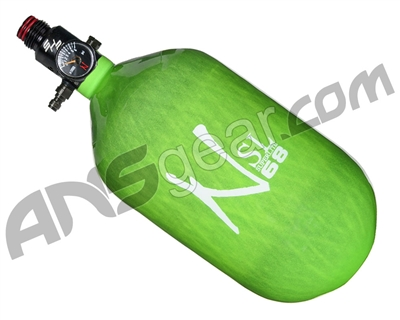 DISCOUNTED Ninja SL Carbon Fiber Air Tank w/ PRO V2 SHP Regulator - 68/4500 - Lime