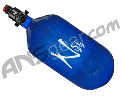 DISCOUNTED Ninja SL Carbon Fiber Air Tank w/ Adjustable Regulator - 77/4500 - Blue