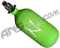Ninja SL2 Carbon Fiber Air Tank - 45/4500 w/ Adjustable Regulator - Lime