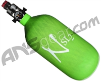 Ninja SL2 Carbon Fiber Air Tank - 45/4500 w/ Pro V2 Regulator - Lime