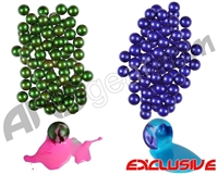 ANSGear Gender Reveal Paintball Kit - 200 Paintballs - 100 Blue Fill & 100 Pink Fill