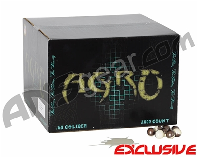 APX Agro Pro Paintballs Case 2000 Rounds - Coconut Scented - White Fill