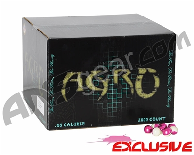 APX Agro Pro Paintballs Case 2000 Rounds - Peppermint Scented - Pink Fill