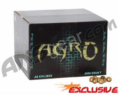 APX Agro Pro Paintballs Case 2000 Rounds - Root Beer Scented - Orange Fill