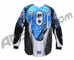 Planet Eclipse 2007 Distortion Paintball Jersey - Black/Blue
