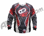 Planet Eclipse 2008 Distortion Paintball Jersey - Gold/Red