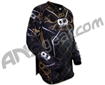 Planet Eclipse 2010 Distortion Paintball Jersey - Black/Gold