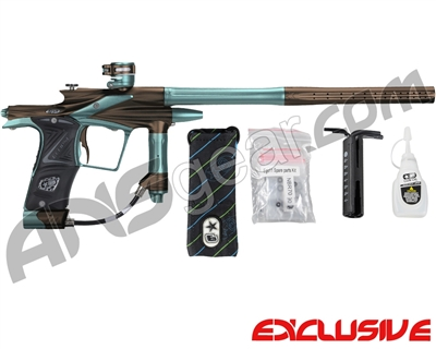 Planet Eclipse 2011 Ego Paintball Gun - Brown/Aqua