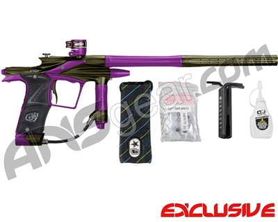 Planet Eclipse 2011 Ego Paintball Gun - Olive/Electric Purple