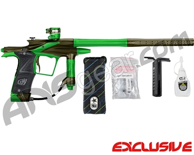 Planet Eclipse 2011 Ego Paintball Gun - Olive/Lime