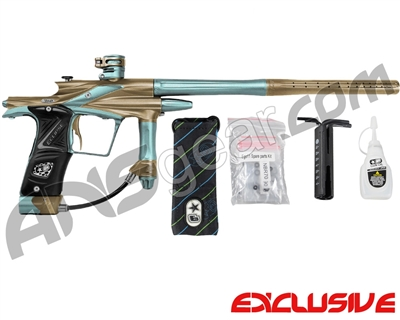 Planet Eclipse 2011 Ego Paintball Gun - Tan/Aqua