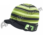 Planet Eclipse 2012 Barcode Visor Beanie - Black/Green