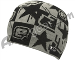 Planet Eclipse Squared Beanie - Black Grey
