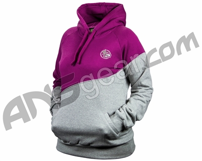 Planet Eclipse 2014 Womens Trex Hooded Sweatshirt - Grey/Plum