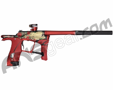 Planet Eclipse Ego LV1 Paintball Gun - LE Skulls & Roses w/ Red Grips