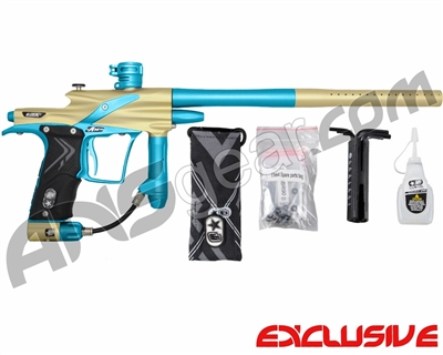 Planet Eclipse Etek 4 AM Paintball Gun - Gold/Dust Teal