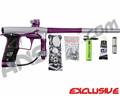 Planet Eclipse Geo 3 Paintball Gun - Silver/Purple