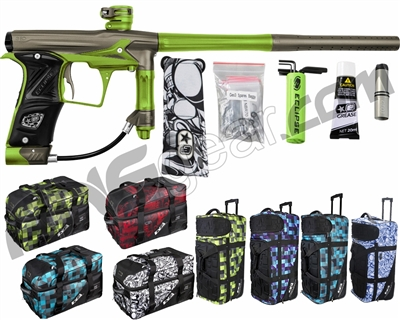 Planet Eclipse Geo 3 Paintball Gun w/ Gear Bag - Grey/Lime