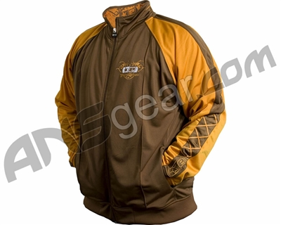 Planet Eclipse Men's Compton Track Jacket - Brown/Gold