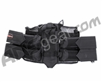 PMI Deluxe Mesh 4+1 Horizontal Paintball Harness - Black