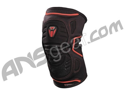 Proto 2008 Paintball Knee Pads - Black/Red