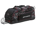 Proto Large Rolling Gear Bag - Black/Red