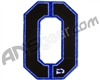 Push Division Velcro Number Patch #0 - Blue