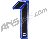 Push Division Velcro Number Patch #1 - Blue