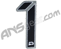 Push Division Velcro Number Patch #1 - Grey