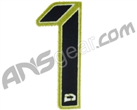 Push Division Velcro Number Patch #1 - Lime