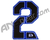 Push Division Velcro Number Patch #2 - Blue