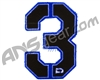Push Division Velcro Number Patch #3 - Blue