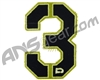 Push Division Velcro Number Patch #3 - Lime