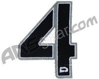 Push Division Velcro Number Patch #4 - Grey