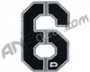 Push Division Velcro Number Patch #6 - Grey