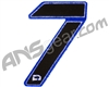 Push Division Velcro Number Patch #7 - Blue