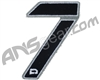 Push Division Velcro Number Patch #7 - Grey