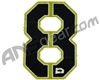 Push Division Velcro Number Patch #8 - Lime