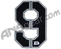 Push Division Velcro Number Patch #9 - Grey