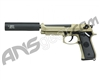 Socom Gear Full Metal SOF M9 Gas Blow Back Airsoft Pistol w/ Gemtech Trinity Barrel Extension - Tan