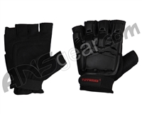 Tippmann Armored Half Finger Paintball Gloves - Black