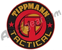 Tippmann Tactical Rubber Velcro Patch - Black (31739)