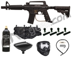 Tippmann US Army Alpha Tactical Paintball Gun W/ Tank, Mask, 4+1, & Loader