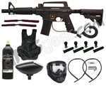 Tippmann US Army Alpha Tactical Paintball Gun W/ Tank, Mask, Vest, Remote, & Loader