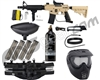Tippmann US Army Alpha Black Elite Tactical Foxtrot Paintball Gun Package Kit - Tan