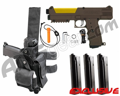 Tippmann TiPX Trufeed Deluxe Pistol Kit - Coyote Brown/Dust Yellow